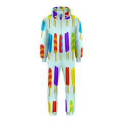 Popsicle Pattern Hooded Jumpsuit (kids)