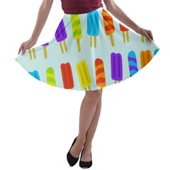 Popsicle Pattern A Line Skater Skirt