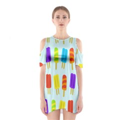 Popsicle Pattern Shoulder Cutout One Piece