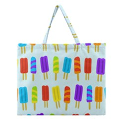 Popsicle Pattern Zipper Large Tote Bag