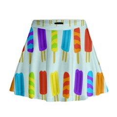 Popsicle Pattern Mini Flare Skirt