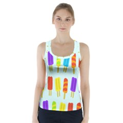 Popsicle Pattern Racer Back Sports Top
