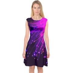 Big Bang Capsleeve Midi Dress by ValentinaDesign