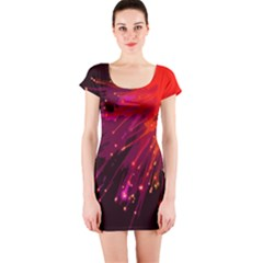 Big Bang Short Sleeve Bodycon Dress by ValentinaDesign