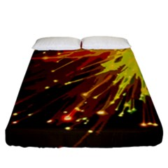 Big Bang Fitted Sheet (king Size) by ValentinaDesign