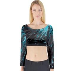 Big Bang Long Sleeve Crop Top by ValentinaDesign