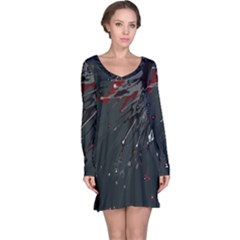 Big Bang Long Sleeve Nightdress by ValentinaDesign