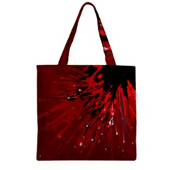 Big Bang Zipper Grocery Tote Bag by ValentinaDesign