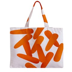 Carrot Vegetables Orange Medium Tote Bag by Mariart