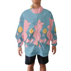 Coins Pink Coins Piggy Bank Dollars Money Tubes Wind Breaker (kids) by Mariart
