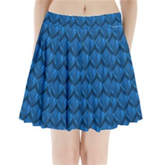 Blue Dragon Snakeskin Skin Snake Wave Chefron Pleated Mini Skirt by Mariart
