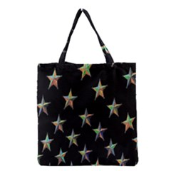 Colorful Gold Star Christmas Grocery Tote Bag by Mariart