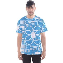 Drones Registration Equipment Game Circle Blue White Focus Men s Sport Mesh Tee by Mariart