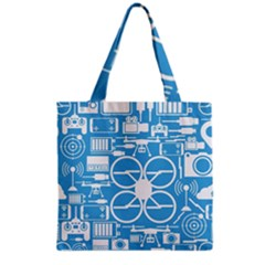 Drones Registration Equipment Game Circle Blue White Focus Grocery Tote Bag by Mariart
