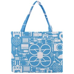 Drones Registration Equipment Game Circle Blue White Focus Mini Tote Bag by Mariart