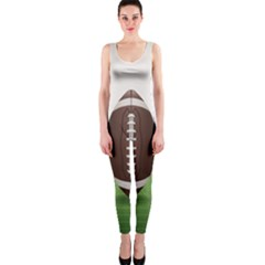 Helmet Ball Football America Sport Red Brown Blue Green Onepiece Catsuit by Mariart