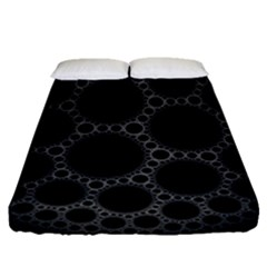 Plane Circle Round Black Hole Space Fitted Sheet (queen Size) by Mariart