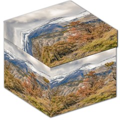 Forest And Snowy Mountains, Patagonia, Argentina Storage Stool 12   by dflcprints
