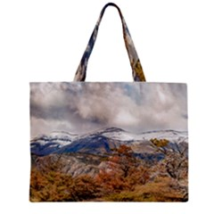 Forest And Snowy Mountains, Patagonia, Argentina Zipper Mini Tote Bag by dflcprints