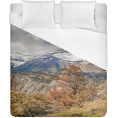 Forest And Snowy Mountains, Patagonia, Argentina Duvet Cover (california King Size) by dflcprints