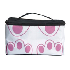 Rabbit Feet Paw Pink Foot Animals Cosmetic Storage Case by Mariart