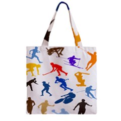 Sport Player Playing Zipper Grocery Tote Bag by Mariart