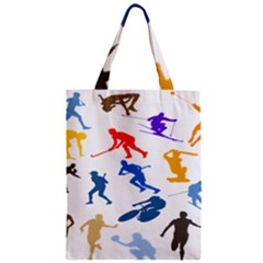 Sport Player Playing Zipper Classic Tote Bag
