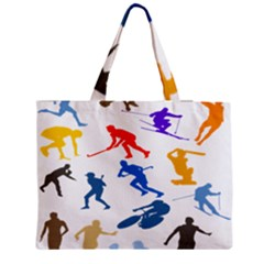 Sport Player Playing Medium Tote Bag by Mariart