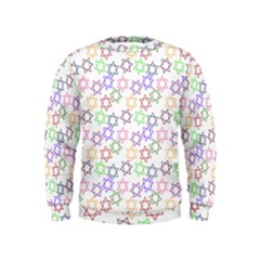 Star Space Color Rainbow Pink Purple Green Yellow Light Neons Kids  Sweatshirt by Mariart