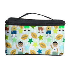 Kids Football Players Playing Sports Star Cosmetic Storage Case by Mariart