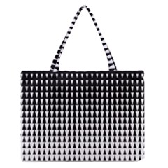Triangle Black White Wave Chevron Medium Zipper Tote Bag by Mariart