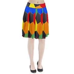 Team Soccer Coming Out Tease Ball Color Rainbow Sport Pleated Skirt by Mariart