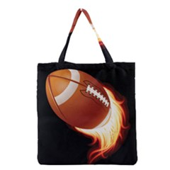 Super Football American Sport Fire Grocery Tote Bag by Mariart