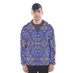 Colorful Ethnic Design Hooded Wind Breaker (men) by dflcprintsclothing