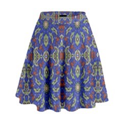Colorful Ethnic Design High Waist Skirt by dflcprintsclothing