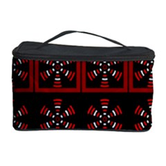 Dark Tiled Pattern Cosmetic Storage Case by linceazul