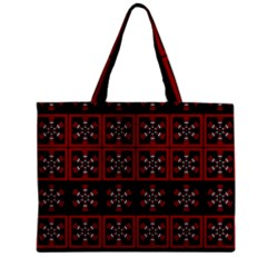 Dark Tiled Pattern Zipper Mini Tote Bag by linceazul