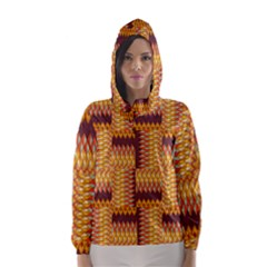 Geometric Pattern Hooded Wind Breaker (women) by linceazul