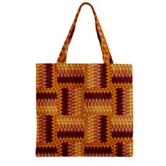 Geometric Pattern Zipper Grocery Tote Bag by linceazul