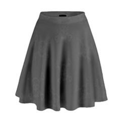 Skull Pattern High Waist Skirt by ValentinaDesign