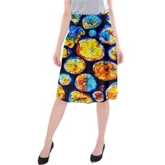 Woodpile Abstract Midi Beach Skirt