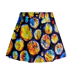 Woodpile Abstract Mini Flare Skirt