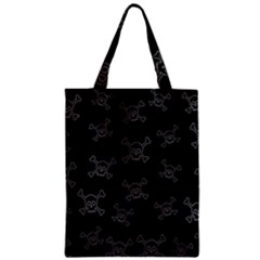 Skull Pattern Zipper Classic Tote Bag by ValentinaDesign