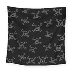 Skull Pattern Square Tapestry (large) by ValentinaDesign