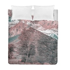 Gravel Empty Road Parque Nacional Los Glaciares Patagonia Argentina Duvet Cover Double Side (full/ Double Size) by dflcprints