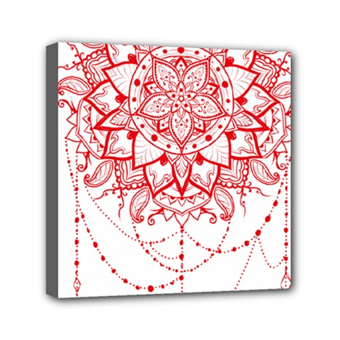 Mandala Pretty Design Pattern Mini Canvas 6  X 6