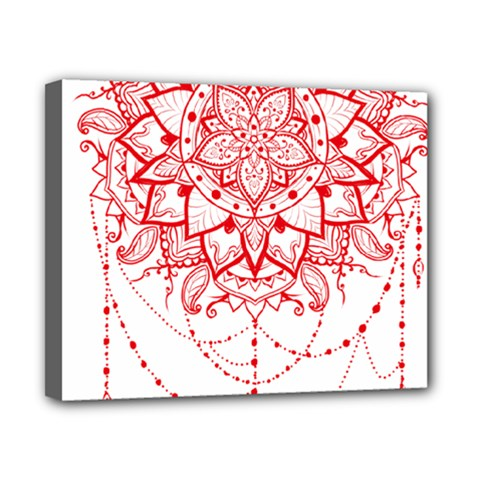 Mandala Pretty Design Pattern Canvas 10  X 8  by Nexatart