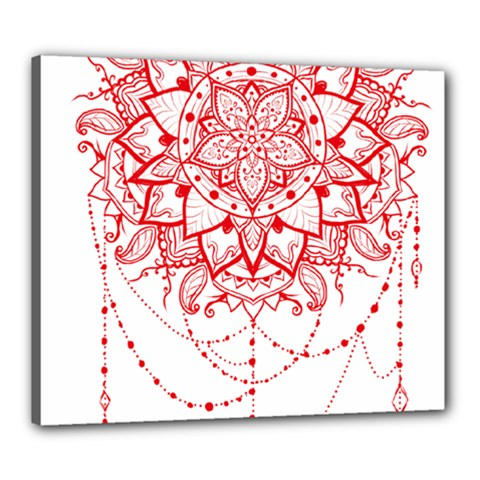 Mandala Pretty Design Pattern Canvas 24  X 20