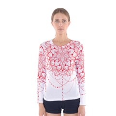 Mandala Pretty Design Pattern Women s Long Sleeve Tee