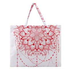 Mandala Pretty Design Pattern Zipper Large Tote Bag
